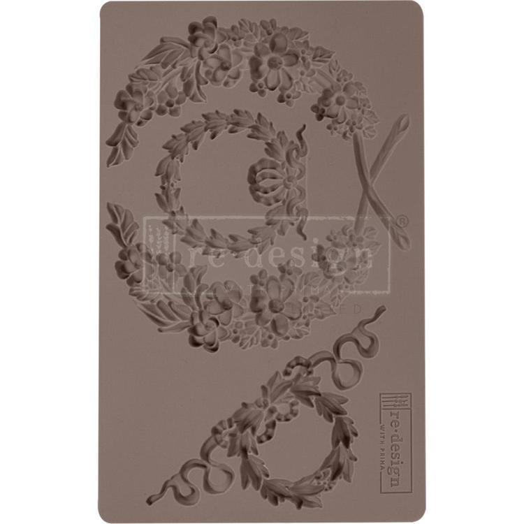 "53902 Prima Marketing Re-Design Mould 5""X8""X8mm Laurel Wreath (636388)."