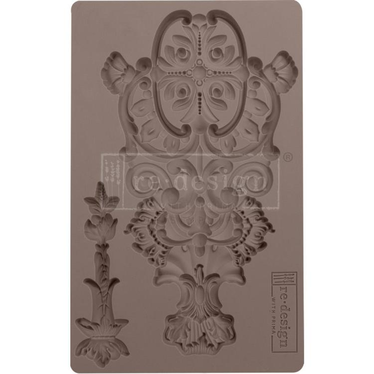 "53906 Prima Marketing Re-Design Mould 5""X8""X8mm Golden Emblem (640972)."