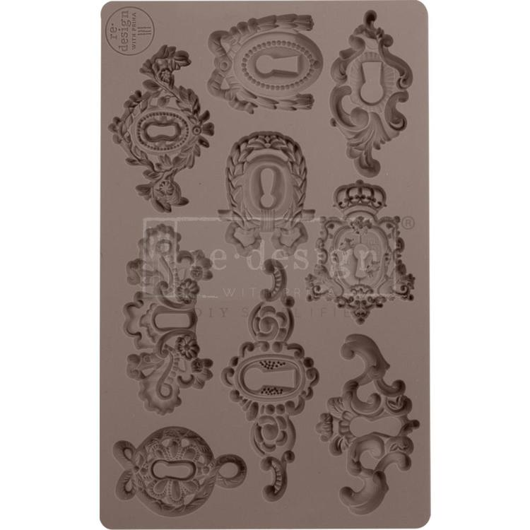 "53908 Prima Marketing Re-Design Mould 5""X8""X8mm Grandeur Keyholes (641016)."