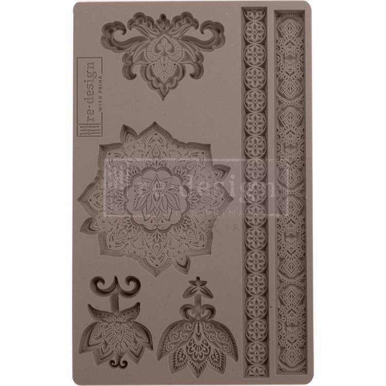 "53909 Prima Marketing Re-Design Mould 5""X8""X8mm Agadir Patterns (641030)."
