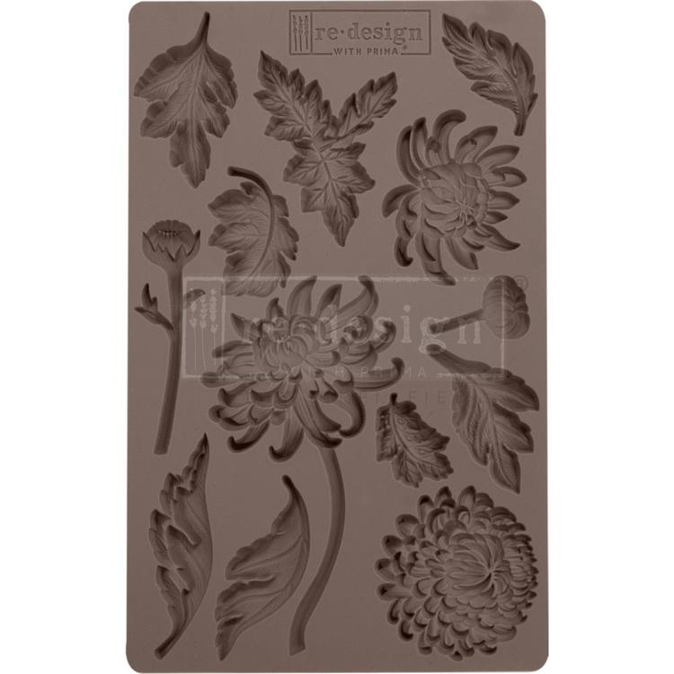 "53910 Prima Marketing Re-Design Mould 5""X8""X8mm Botanist Floral (643072)."