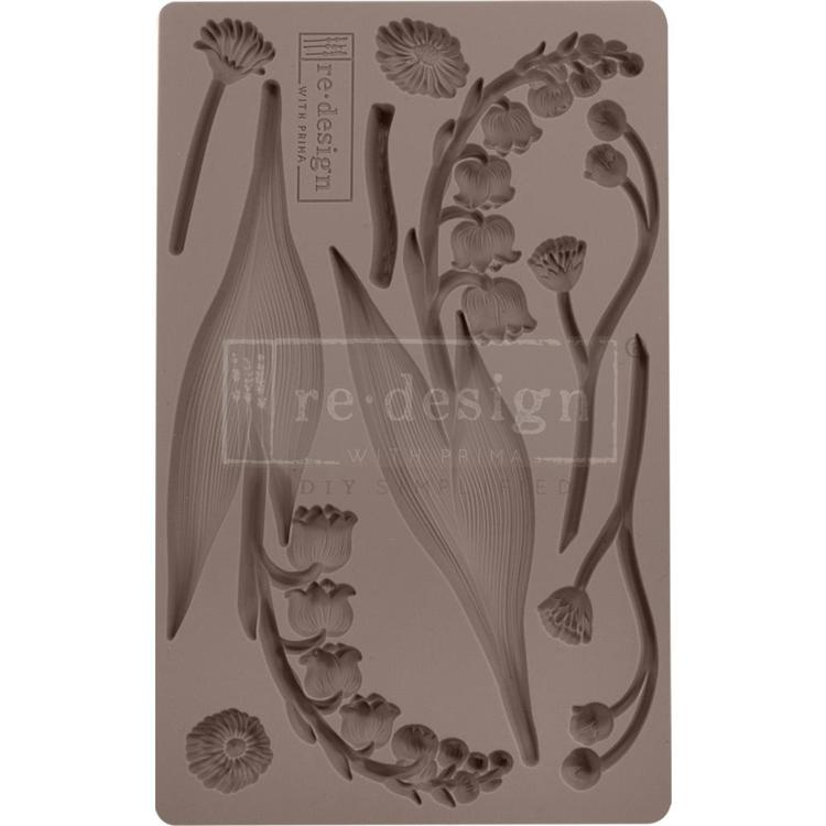 "53911 Prima Marketing Re-Design Mould 5""X8""X8mm Bell Orchids (643089)."