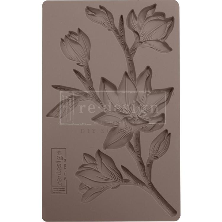 "53912 Prima Marketing Re-Design Mould 5""X8""X8mm Forest Flora (643102)."
