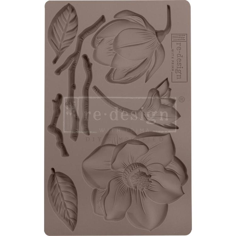 "53913 Prima Marketing Re-Design Mould 5""X8""X8mm Winter Blooms (643119)."