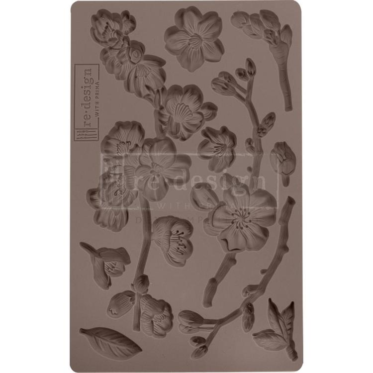 "53914 Prima Marketing Re-Design Mould 5""X8""X8mm Cherry Blossoms (643126)."
