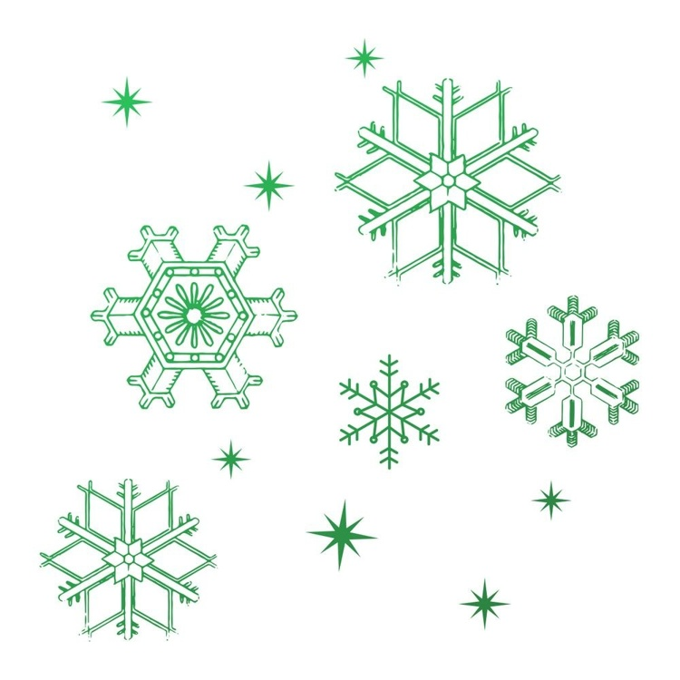 53943 Couture Creations Snowflakes Mini Stamp (CO726915).
