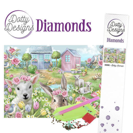 54006 DDD10003 Dotty Designs Diamonds - Baby Animals.