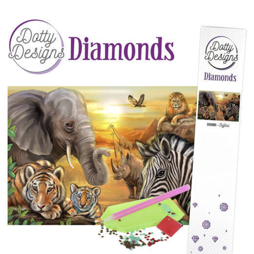 54008 DDD10001 Dotty Designs Diamonds - Safari.