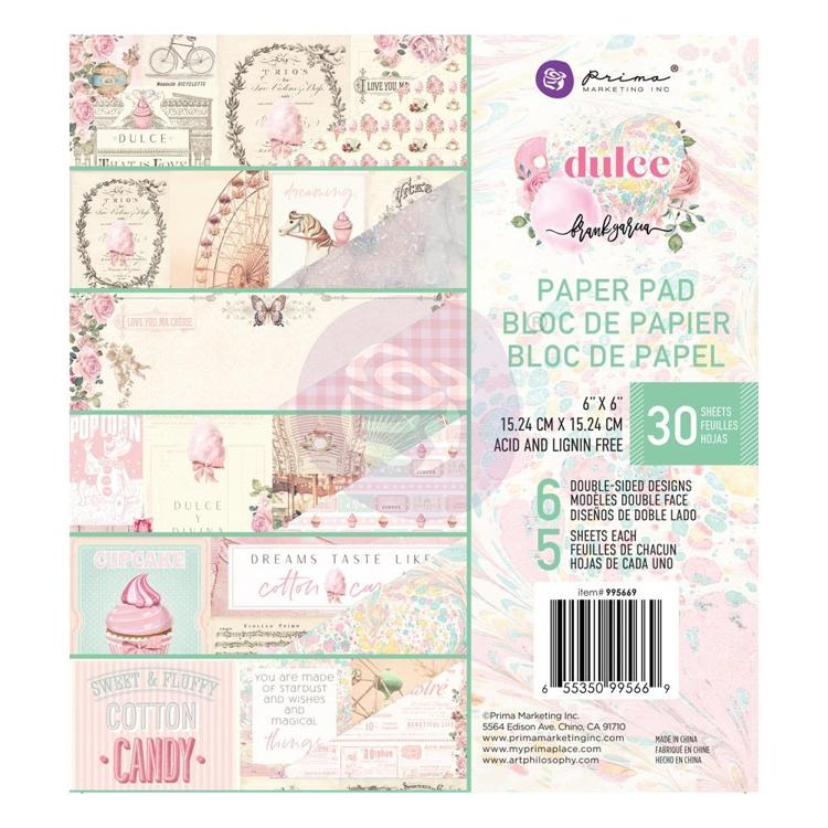 "54053 Prima Dulce By Frank Garcia Double-Sided Paper Pad 6""X6"" 30/Pkg 6 Designs/5 Each (995652)."