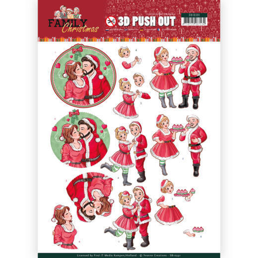 54097 3D Pushout - Yvonne Creations - Family Christmas - Loving Christmas (SB10391).