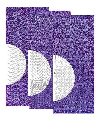 5996 Leane Sticker-C-stitch Diamant Purple.
