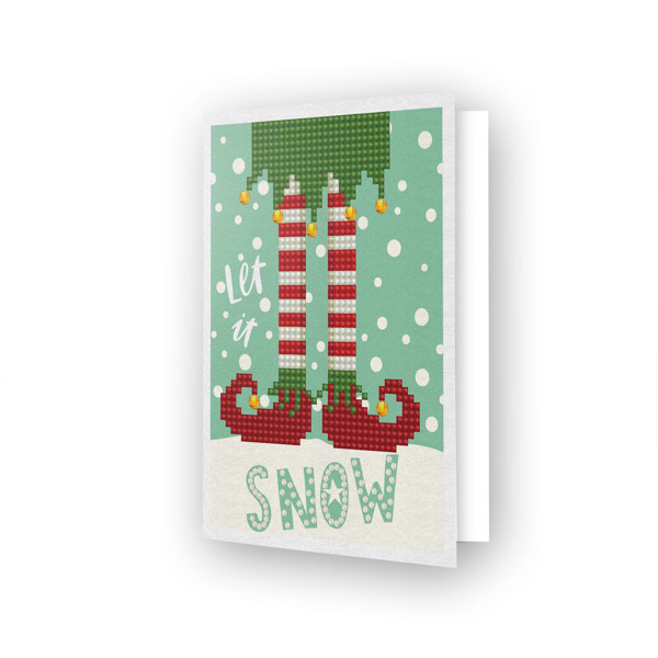 54148 DDG.021 Diamond Dotz® - Greeting Card LET IT SNOW.