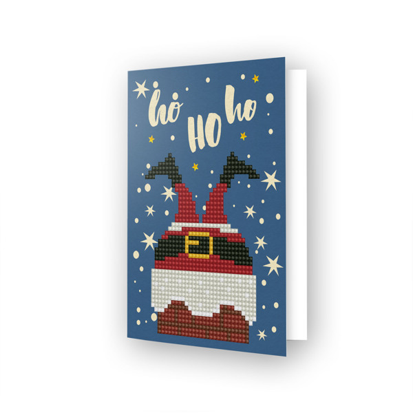 54149 DDG.020 Diamond Dotz® - Greeting Card HO HO HO.