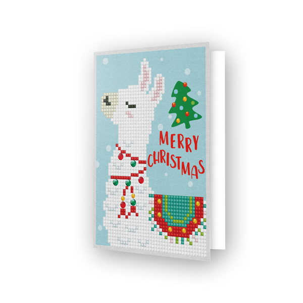 54150 DDG.003 Diamond Dotz® - Greeting Card MERRY CHRISTMAS LAMA.