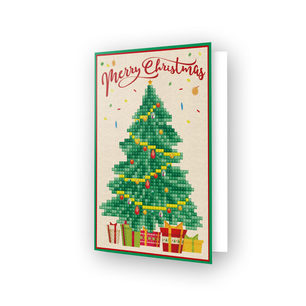 54152 DDG.014 Diamond Dotz® - Greeting Card MERRY CHRISTMAS TREE.