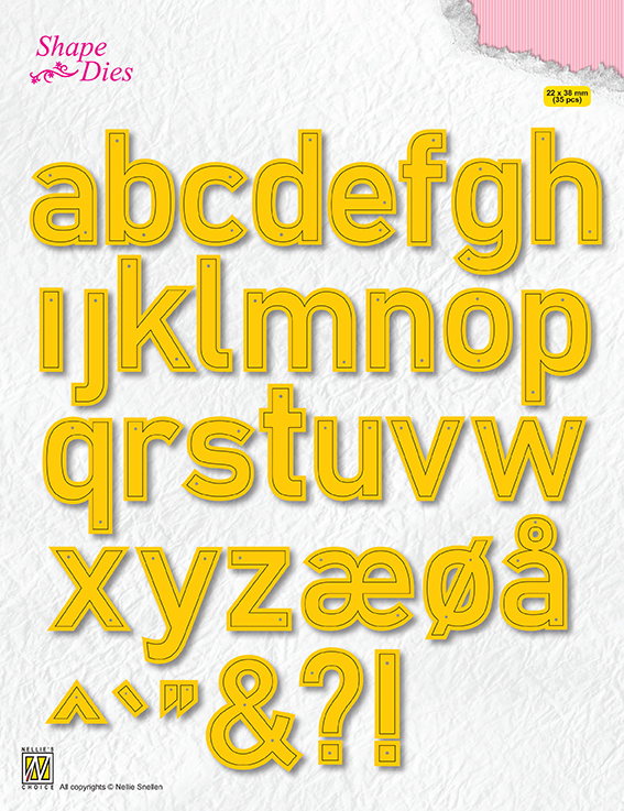 54154 Nellie Snellen Shape Dies Alphabet Large (SD176).