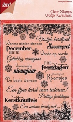 54264 Joy Crafts Clearstamps Warme Winter Wensen NL (6410/0117).