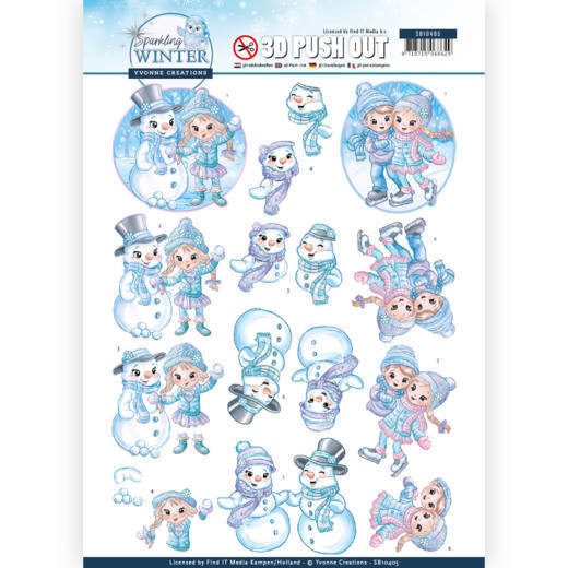 54275 3D Pushout - Yvonne Creations - Sparkling Winter - Winterfun (SB10405).