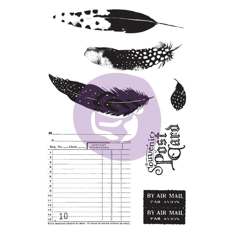 54342 Prima Marketing Midnight Garden Cling Rubber Stamps & Stenci.