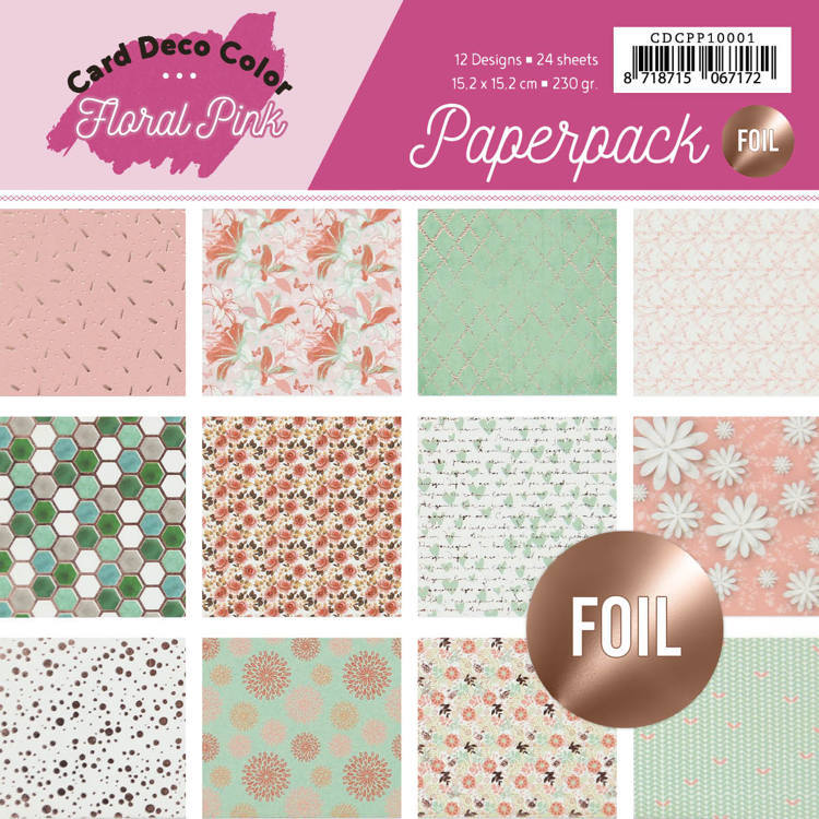 54418 Foiled Paperpack - Yvonne Creations - Floral Pink (CDCPP10001).
