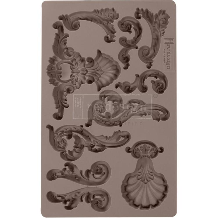 "54463 Prima Marketing Re-Design Mould 5""X8""X12mm Oceanica Flourish (636333)."
