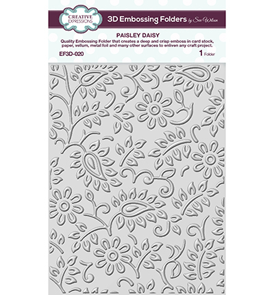 54479 Creative Expressions 3D Embossing Folder Paisley Daisy (EF3D-020).