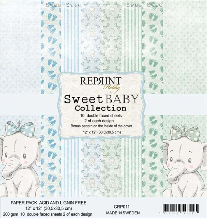 54506 Reprint CRP011 Sweet Baby Collection pack Blue 12x12 10 Sheets.