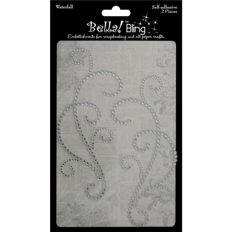 54789 Bling Self-Adhesive Waterfall 2/Pkg Clear.
