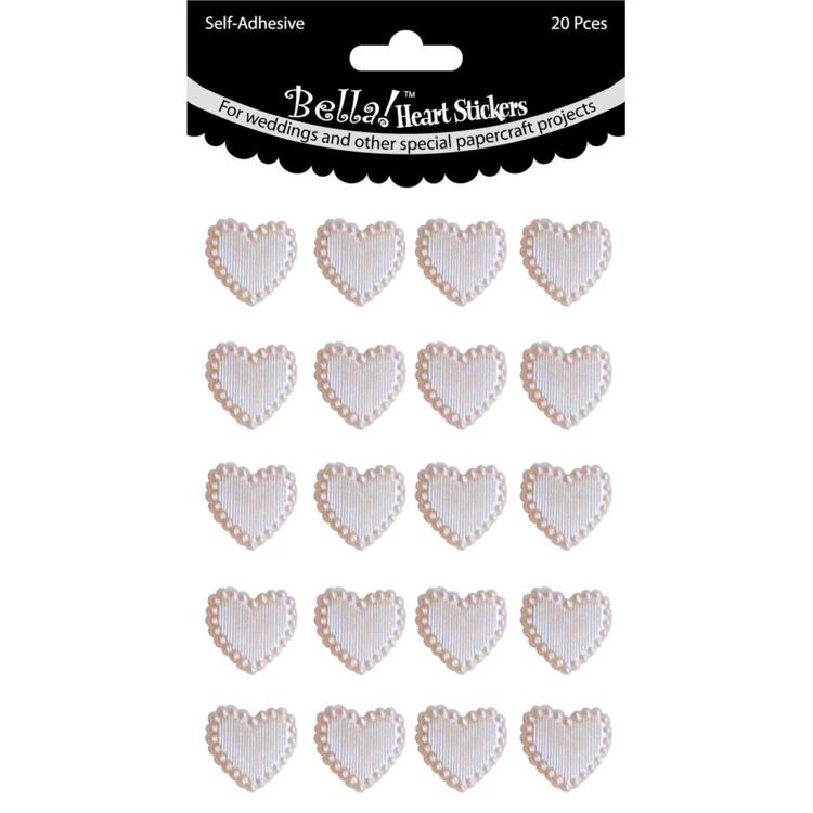 54793 Bling Self-Adhesive Hearts 20/Pkg GeelGoud.