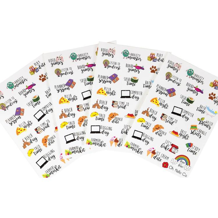 54851 Oh Hello Planner Stickers 4 Sheets Font Icon Variety.