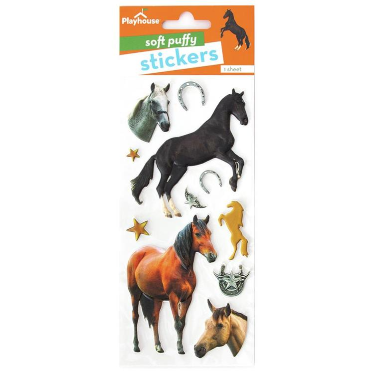 54862 Paper House Soft Puffy Stickers Horses.