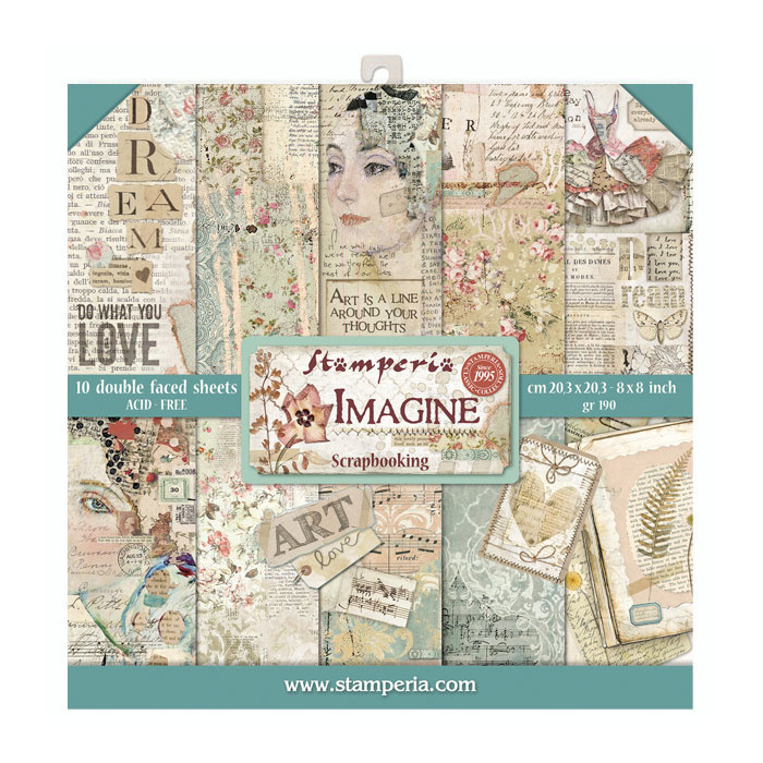 54965 Stamperia Imagine 8x8 Inch Paper Pack (SBBS07).