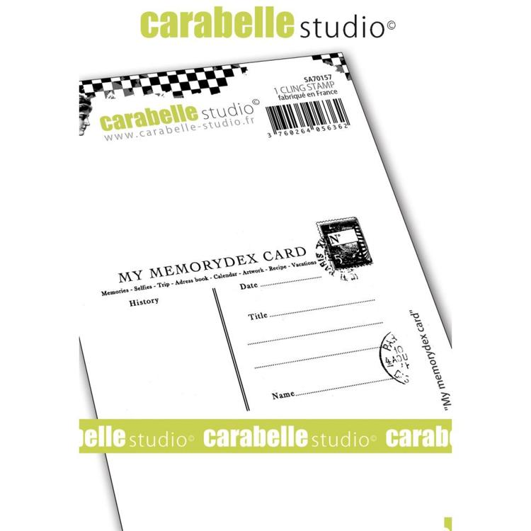 55037 Carabelle Studio Cling Stamp A7 My Memorydex Card.