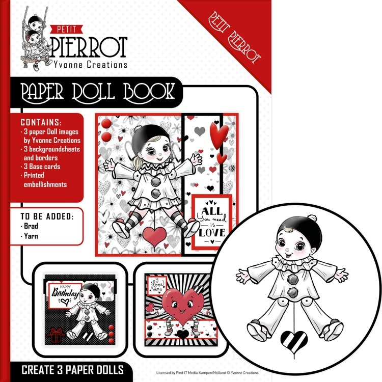 55268 Paper Doll Book - Yvonne Creations - Petit Pierrot (YCPD001).