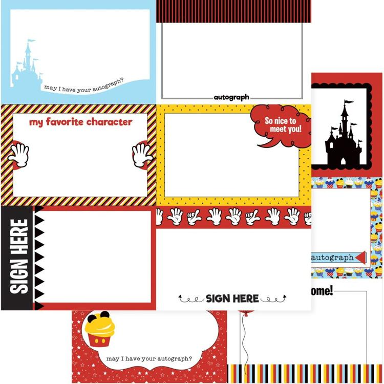 "55296 Photo Play Another Day At The Park Double-Sided Cardstock 12""X12"" Autograph Cards."
