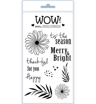 55501 Wow Clearstamps Thankful  (by Marion Emberson) (STAMPSET50).