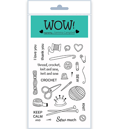 55502 Wow Clearstamps Simply Sew (by Gemma Campbell) (STAMPSET61).