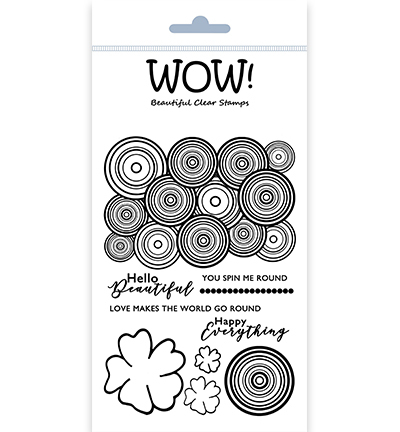 55507 Wow Clearstamps Round & Round (by Marion Emberson)(STAMPSET55).