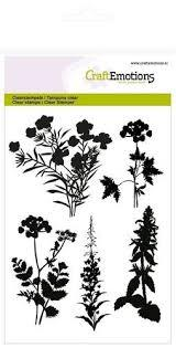 55554 CraftEmotions Clearst. A6  Silhouet Berm Planten (130501/1278)