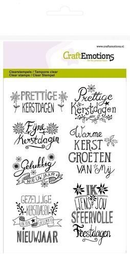 55557 CraftEmotions Clearst. A6 Kerst Handlettering Splash (130501/1267)