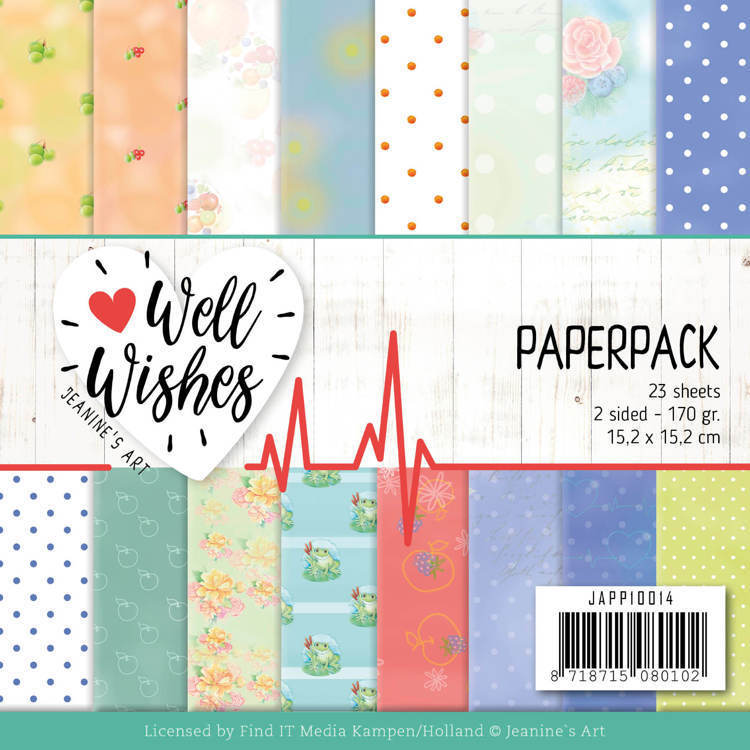 55604 JAPP10014 Paperpack - Jeanine's Art - Well Wishes.