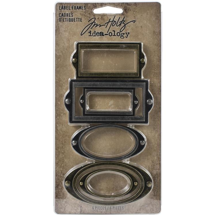 55664 Idea-Ology Metal Adornments 6/Pkg Label Frames (TH94052).