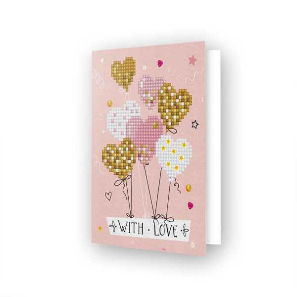 55676 DDG.016 Diamond Dotz® - Greeting Card LOVE BALLOONS.