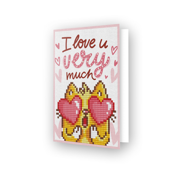 55678 Diamond Dotz® - Greeting Card LOVE YOU.