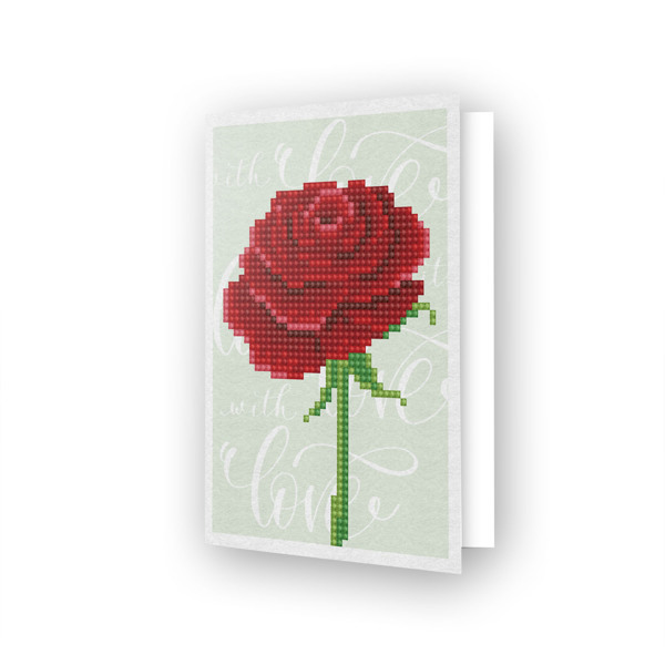 55679 DDG.017 Diamond Dotz® - Greeting Card LOVE ROSE.