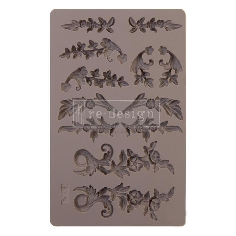 "55831 Prima Marketing Re-Design Mould 5""X8""X8mm Delicate Flora (643065)."