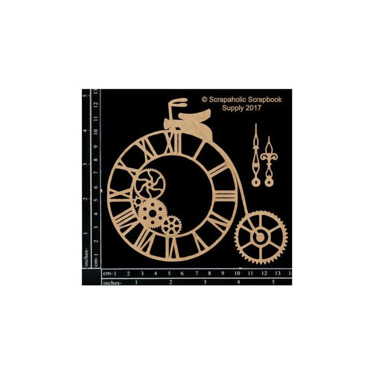 "55841 Scrapaholics Laser Cut Chipboard 1.8mm Thick Steampunk Penny Farthing, 3/Pkg, 5.5""X5""."