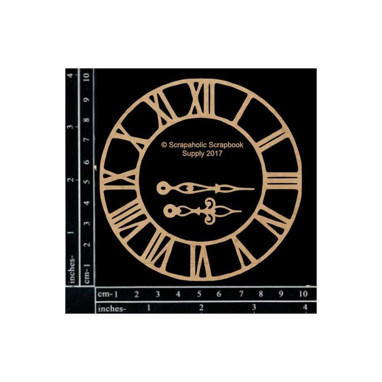 "55849 Scrapaholics Laser Cut Chipboard 1.8mm Thick Small Roman Clock, 3/Pkg, 4""-1.5""."