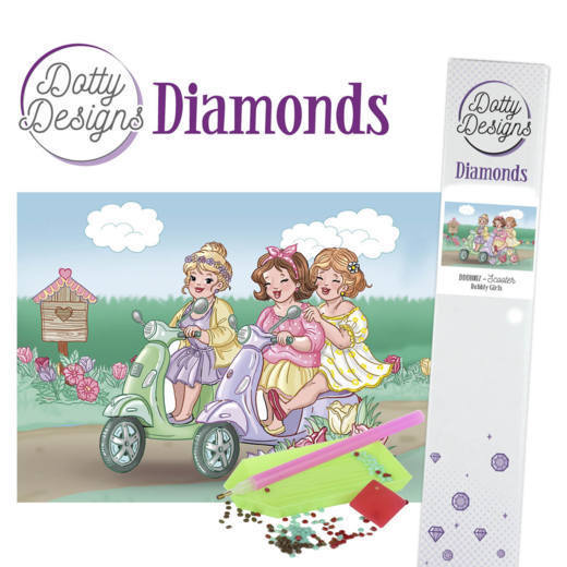 55973 Dotty Designs Diamonds - Bubbly Girls - Scooter (DDD10007).