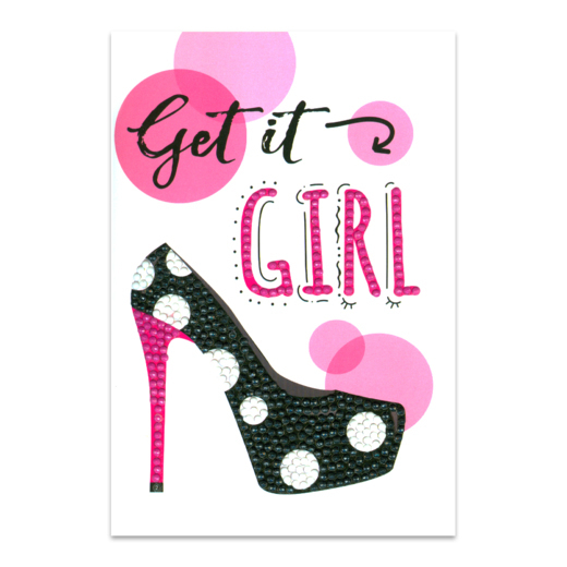56224 Craft Artist Diamond Art Card Kits - Get it Girl.